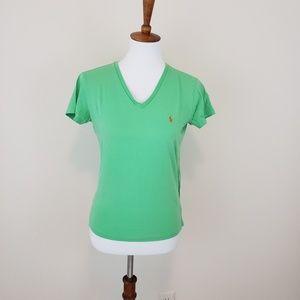 Ralph Lauren Polo Light Green V Neck T Shirt